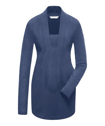 Ink Blue Stine Maternity Tunic