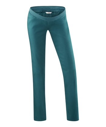 Dark Teal Shima Under-Belly Maternity Pants