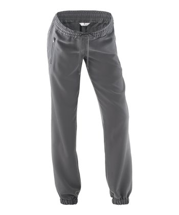Light Gray Enrica Under-Belly Maternity Pants