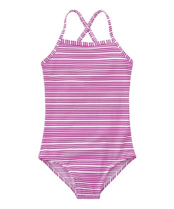 Medium Pink Stripe One-Piece - Infant, Toddler & Girls