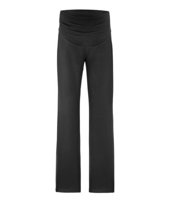 New Black Beatrice Over-Belly Maternity Pants