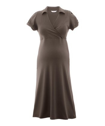 Dark Taupe Gesa Maternity Dress
