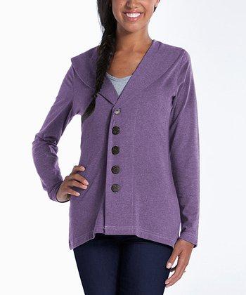 lur® Lilac Shawl Collar Cardigan - Women