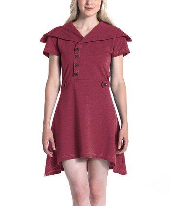lur® Pomegranate Sweet Pea Sidetail Dress - Women
