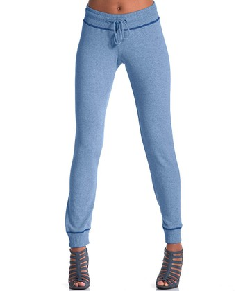 lur® Chambray Blue Lodgepole French Terry Sweatpants - Women & Plus