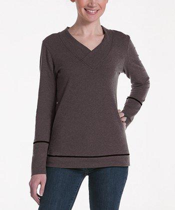 lur® Earth Honeysuckle V-Neck Sweater - Women