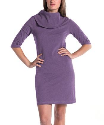 lur® Lilac Lily Cowl Neck Dress - Women