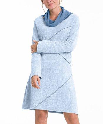 lur® Chambray Blue Reversible Sweater Dress - Women