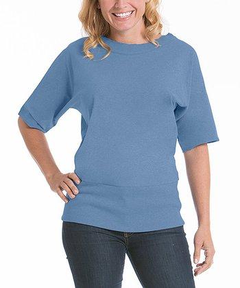 lur® Chambray Blue Boatneck Top - Women & Plus