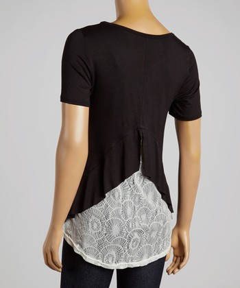 Black & White Lace Top