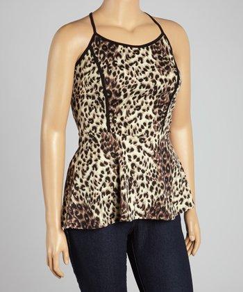 Beige Leopard Camisole - Plus