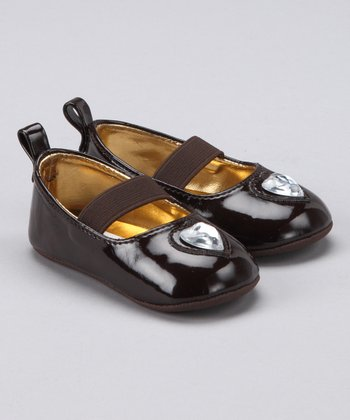 Chocolate Heart Stone Ballet Flat