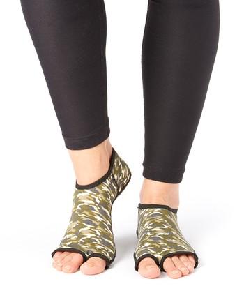 Olive Camo Gripper Socks - Women & Men