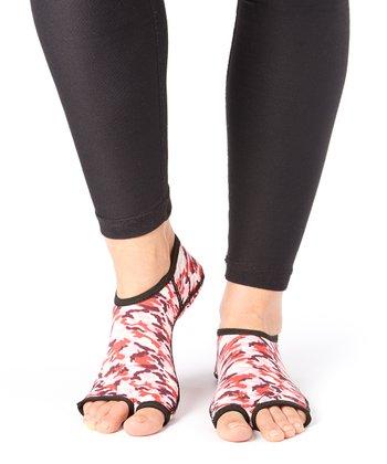 Pink Camo Gripper Socks - Women & Men
