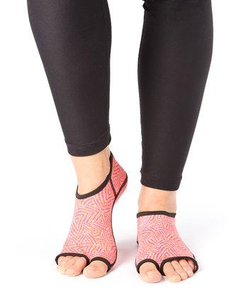 Tangerine Tribal Gripper Socks - Women & Men