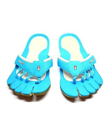 Blue & Tan Decimal Recovery Sandal - Women