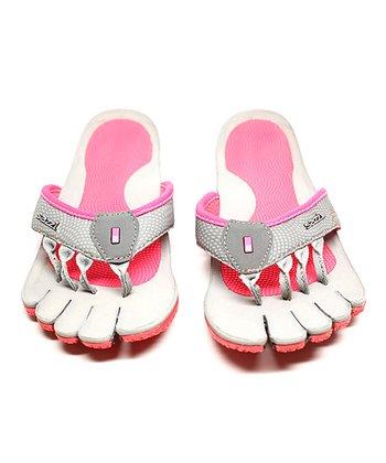 Gray & Pink Decimal Recovery Sandal - Women