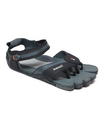 Black & Gray Digit Outdoor Sandal - Women