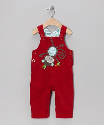 Red Monkey Overalls - Infant & Toddler