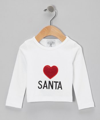 White 'Love Santa' Tee - Infant, Toddler & Kids
