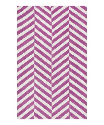 Plum Stripe Piper Rug