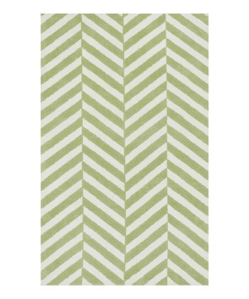 Green Stripe Piper Rug