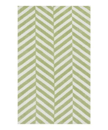 Green Stripe Piper Rug