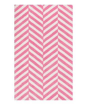 Pink Stripe Piper Rug