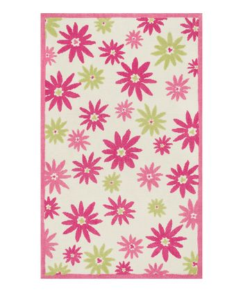 Pink & Green Piper Rug