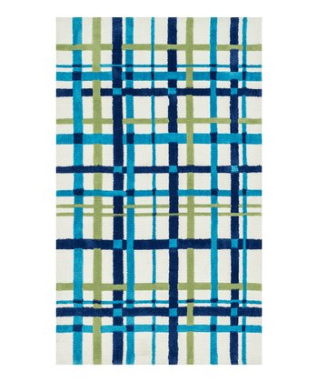Blue Plaid Piper Rug