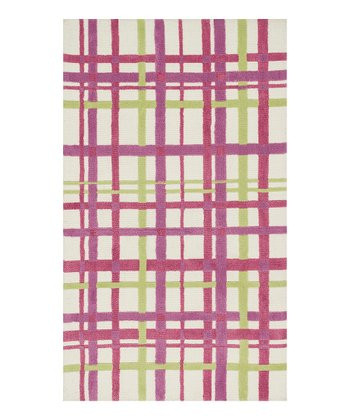 Purple Plaid Piper Rug
