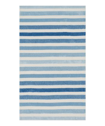 Blue Stripe Piper Rug