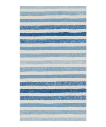 Blue Stripe Piper Rug