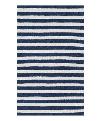 Navy Stripe Piper Rug