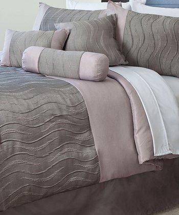 Gray Emily Jacquard Comforter Set