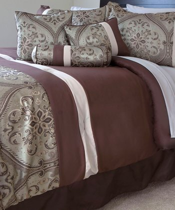 Green & Brown Geneva Comforter Set