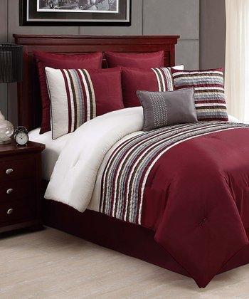 Red & Ivory Sierra Comforter Set