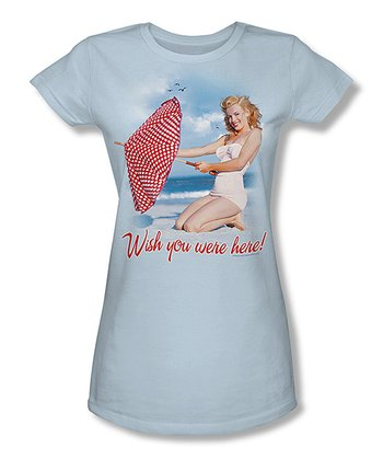 Marilyn Monroe 'Wish You Were Here' Beach Tee - Juniors