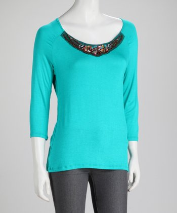 Jade Embellished Top
