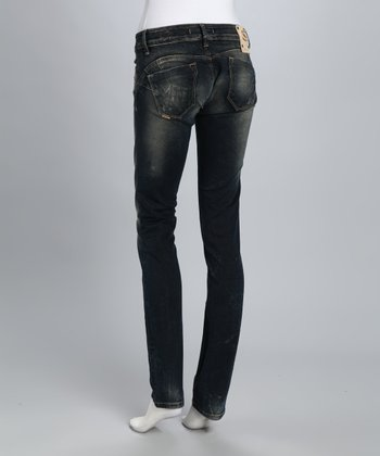 Salsa Dark Indigo Faded Wonder Slim Straight-Leg Jeans
