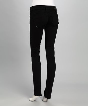 Salsa Black Wonder Slim Straight-Leg Jeans