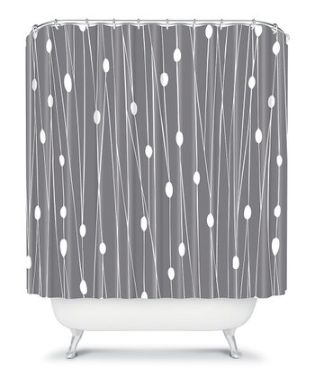 Gray Entangled Shower Curtain