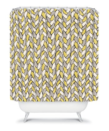 Mustard Braid Shower Curtain