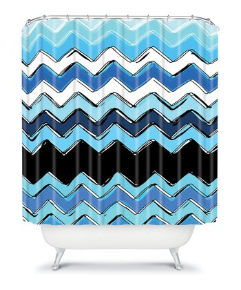 Ocean Zigzag Shower Curtain