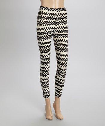 Black & White Zigzag Leggings