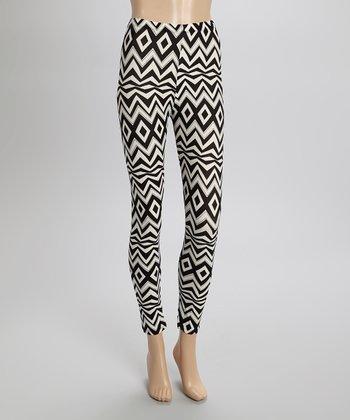 Black & White Geometric Leggings