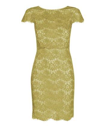 Darling Lime Marissa Cap-Sleeve Dress