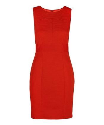 Darling Tangerine Myleene Sheath Dress