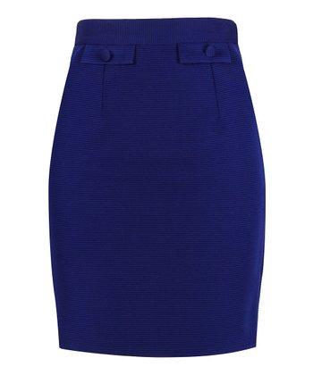 Darling Blue Myleene Pencil Skirt