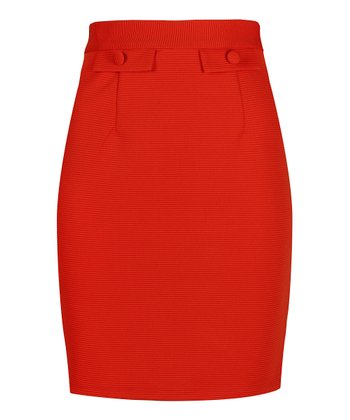 Darling Tangerine Myleene Pencil Skirt